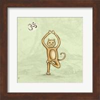 Framed Yoga Cat III