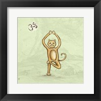 Framed Yoga Cat III