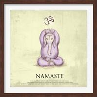 Framed Elephant Yoga, Namaste Pose