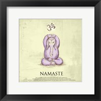 Framed Elephant Yoga, Namaste Pose