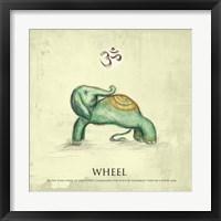 Framed Elephant Yoga, Wheel Pose