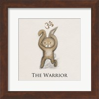 Framed Bunny Yoga,The Warrior Pose