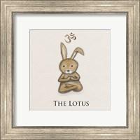 Framed Bunny Yoga, The Lotus Pose