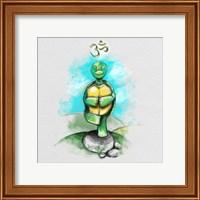 Framed Yoga Turtle II