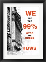 Framed We Are The 99%