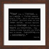 Framed Time Quote