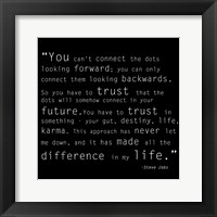 Trust Quote Framed Print