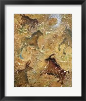 Framed Cave Painting ( Embossed with raised texture)