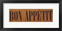 Framed Bon Appetit IV