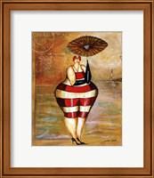 Framed Baigneur de Soleil II (with umbrella)