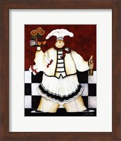 Framed Crimson Chef I