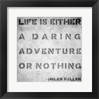 Framed Life Quote