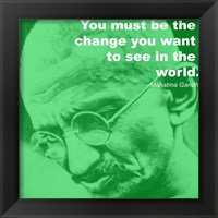 Framed Gandhi - Change Quote