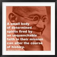 Framed Gandhi - Determination Quote