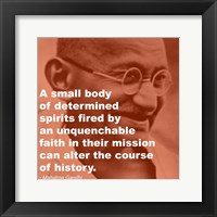 Framed Gandhi - Determination Quote