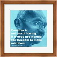 Framed Gandhi - Freedom Quote