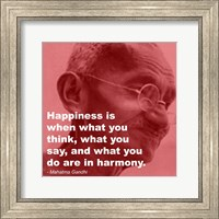 Framed Gandhi - Happiness Quote
