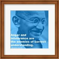Framed Gandhi - Intolerance Quote
