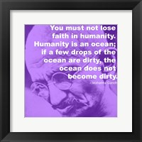 Gandhi - Ocean Quote Framed Print