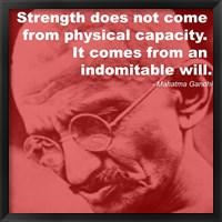 Framed Gandhi - Strength Quote
