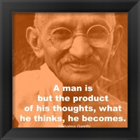 Gandhi - Thoughts Quote Framed Print