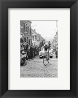 Framed Jaap Kersten in Geraardsbergen Tour de france 1961