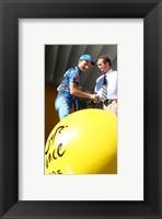 Framed Marcos Serrano, Bernard Hinault, Tour de Francia 2005