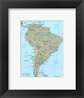 Framed Map of South America