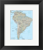 Framed South America