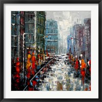 Framed City Landscape