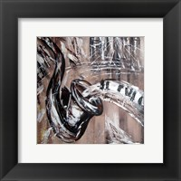 Framed Abstract Saxaphone