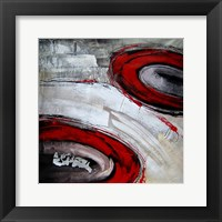 Framed Abstract Circles I - red