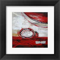 Framed Abstract Circles II - red