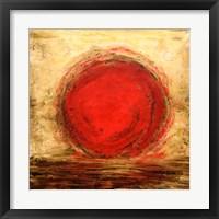 Framed Red Sun