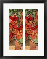 Framed 2-Up Stain Glass Floral I