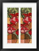 Framed 2-Up Stain Glass Floral II
