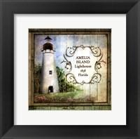 Framed Florida Lighthouse I