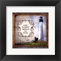 Framed Florida Lighthouse III