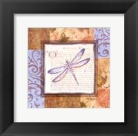 Framed Collaged Dragonflies I