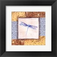 Framed Collaged Dragonflies V