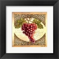 Framed Wine Grapes I