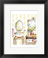Girly Bath III Framed Print
