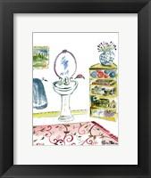 Framed Girl Bathroom II