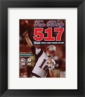 Framed Tom Brady Most Passing Yards in New England Patriots History Overlay