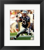Framed Wes Welker 2011 Running Action