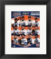 Framed Detroit Tigers 2011 AL Central Champions Composite