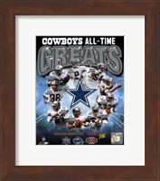 Framed Dallas Cowboys All Time Greats Composite