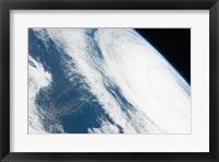 Framed 2011 Hurricane Katia off the Northeastern US from space