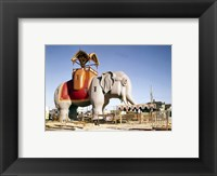Framed Lucy the Margate Elephant HABS NJ