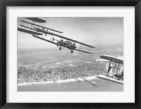 Framed U.S. Army Air Corps Curtiss B-2 Condor bombers flying over Atlantic City